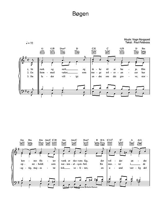 Poul Feldvoss Bøgen sheet music notes and chords. Download Printable PDF.