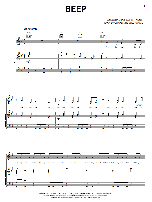Pussycat Dolls Beep sheet music notes and chords. Download Printable PDF.