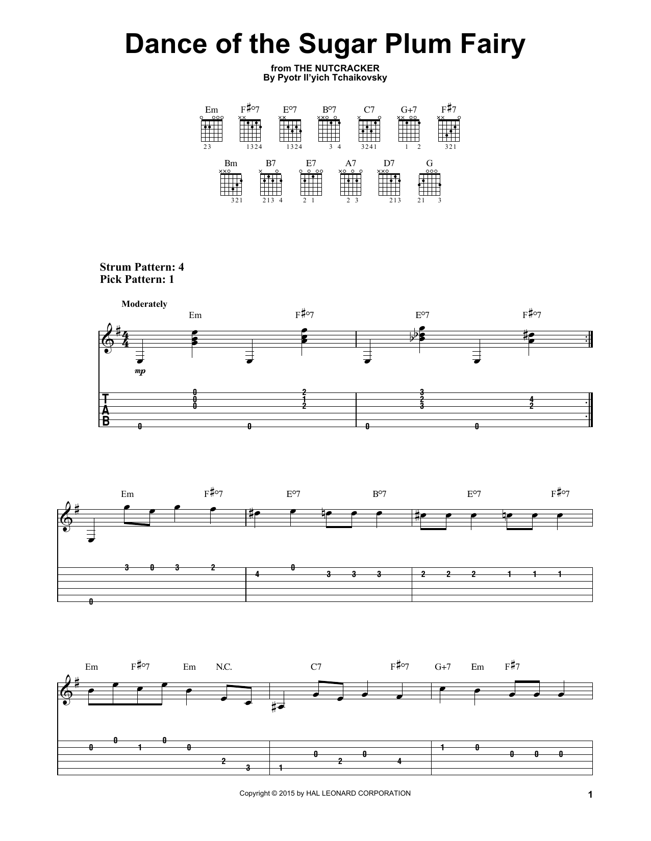 Pyotr Il'yich Tchaikovsky Dance Of The Sugar Plum Fairy, Op. 71a sheet music notes and chords. Download Printable PDF.