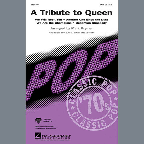 Easily Download Queen Printable PDF piano music notes, guitar tabs for Choir Instrumental Pak. Transpose or transcribe this score in no time - Learn how to play song progression.