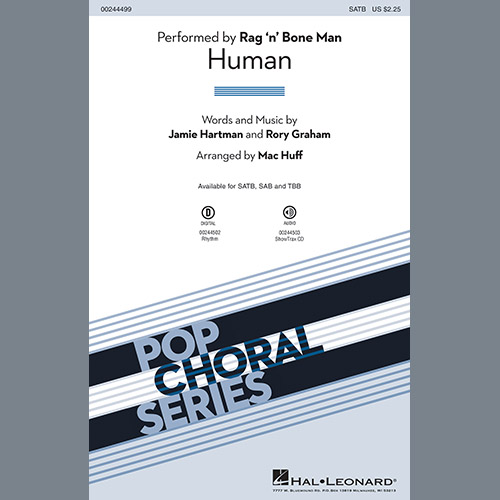Easily Download Rag'n'Bone Man Printable PDF piano music notes, guitar tabs for SATB Choir. Transpose or transcribe this score in no time - Learn how to play song progression.