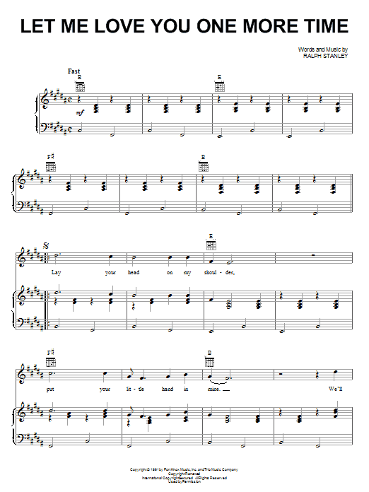 Ralph Stanley Let Me Love You One More Time sheet music notes and chords. Download Printable PDF.