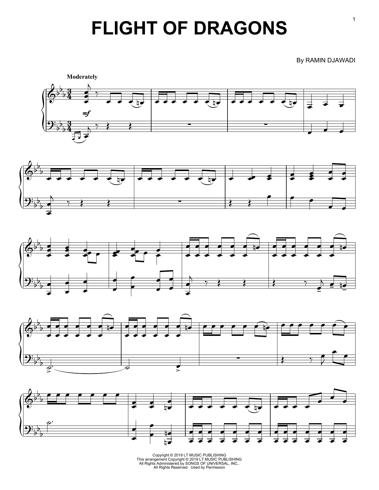 Ramin Djawadi Flight Of Dragons (from Game of Thrones) sheet music notes and chords. Download Printable PDF.