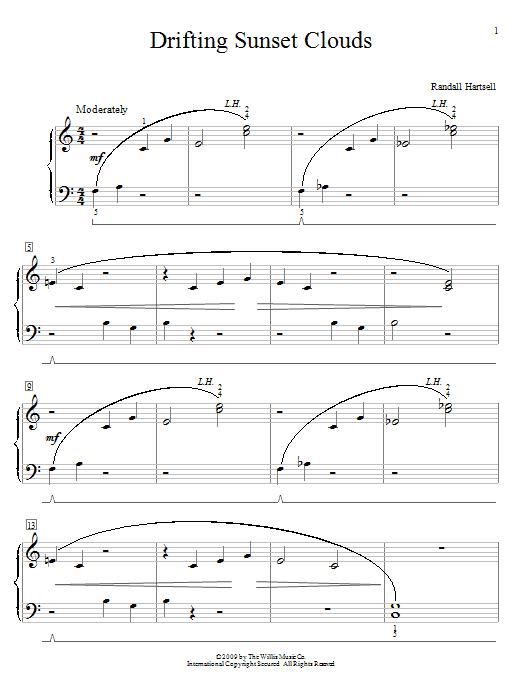 Randall Hartsell Drifting Sunset Clouds sheet music notes and chords. Download Printable PDF.
