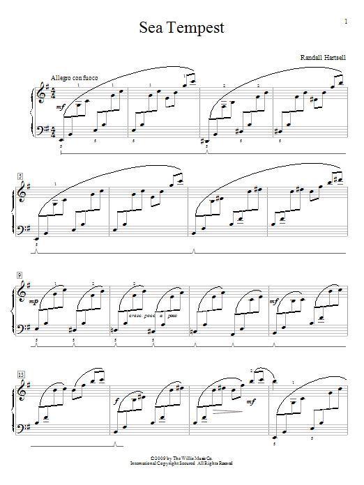 Randall Hartsell Sea Tempest sheet music notes and chords. Download Printable PDF.