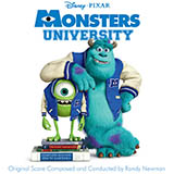 Download or print Randy Newman Main Title (Monsters University) Sheet Music Printable PDF 3-page score for Children / arranged Piano Solo SKU: 99673.