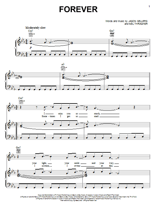 Rascal Flatts Forever sheet music notes and chords