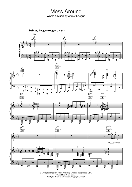 Ray Charles Mess Around sheet music notes and chords
