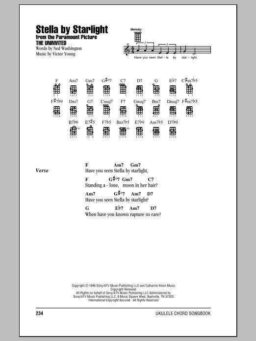 Ray Charles Stella By Starlight sheet music notes and chords. Download Printable PDF.