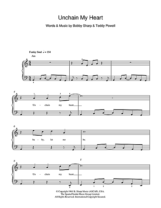 Ray Charles Unchain My Heart sheet music notes and chords. Download Printable PDF.