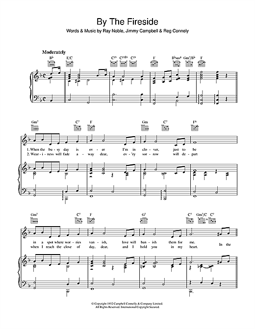 Ray Noble By The Fireside sheet music notes and chords. Download Printable PDF.