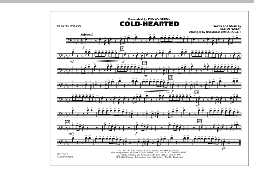 Raymond James Rolle II Cold-Hearted (Featured in Drumline Live) - Electric Bass sheet music notes and chords. Download Printable PDF.