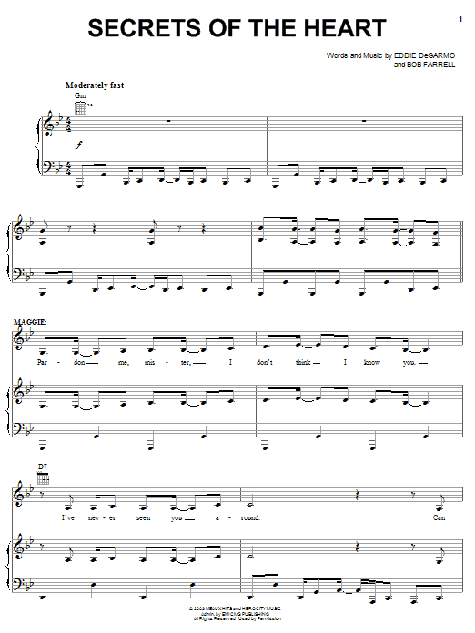 Rebecca St. James Secrets Of The Heart sheet music notes and chords. Download Printable PDF.