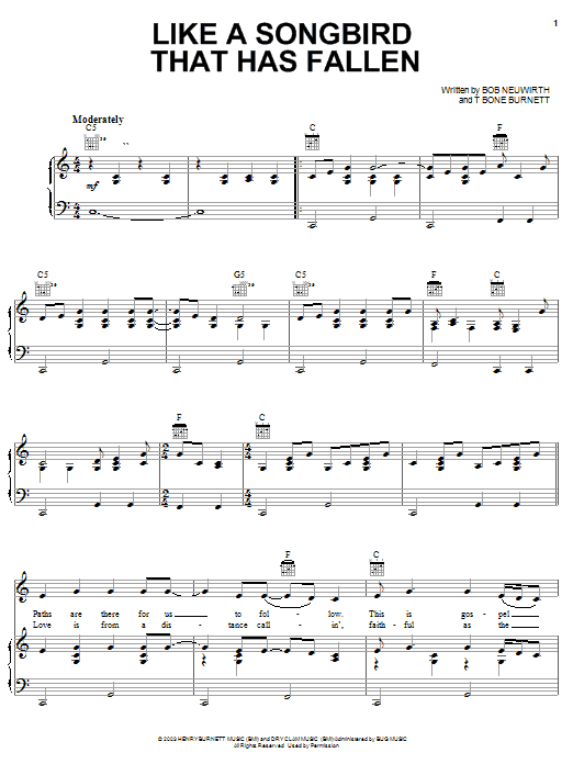 Reeltime Travelers Like A Songbird That Has Fallen sheet music notes and chords. Download Printable PDF.