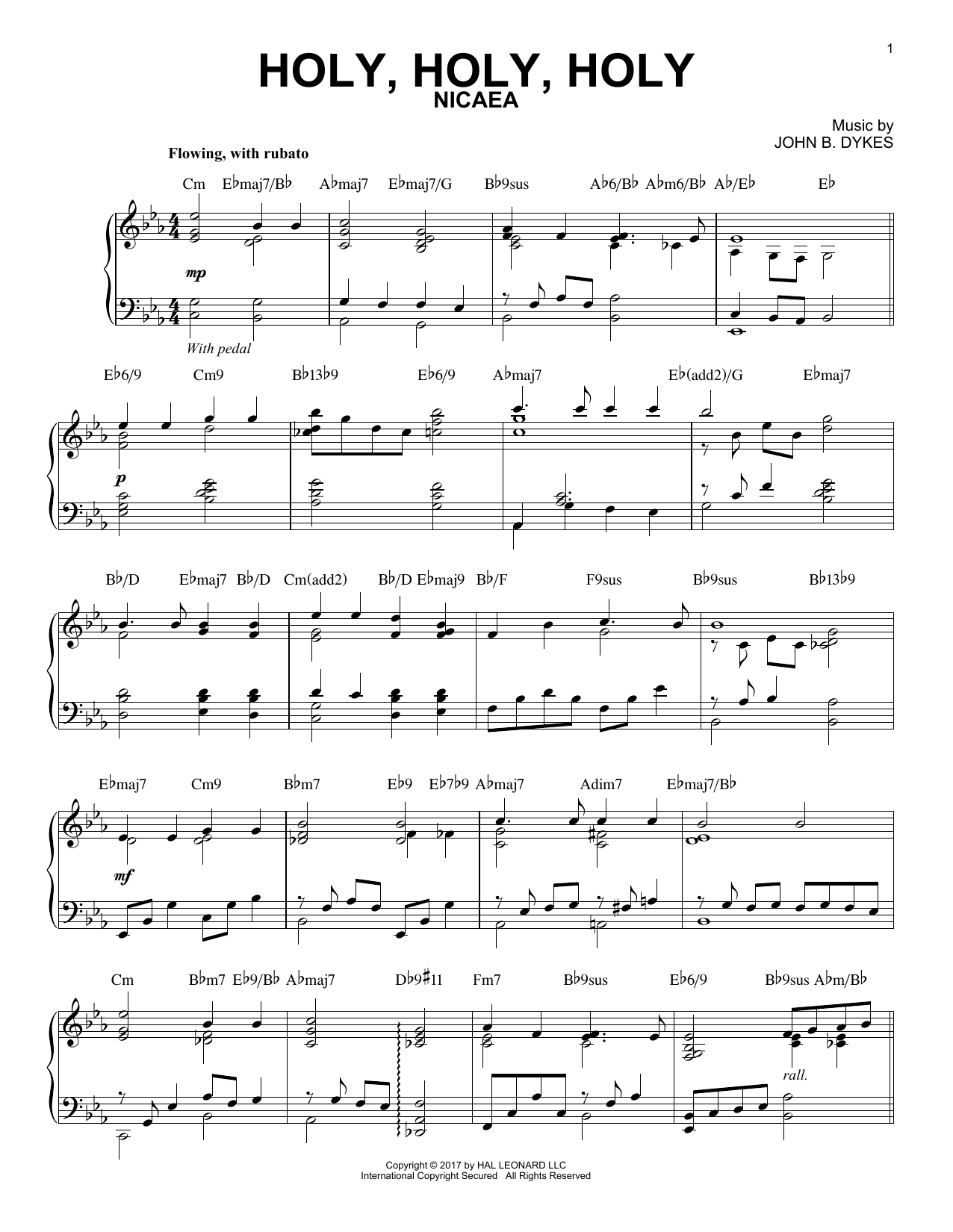 Reginald Heber Holy, Holy, Holy [Jazz version] sheet music notes and chords. Download Printable PDF.