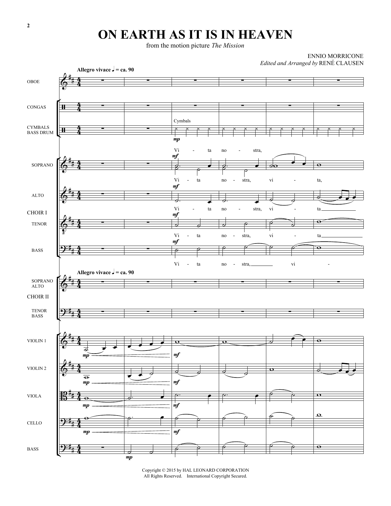 Rene Clausen On Earth As It Is In Heaven - Score sheet music notes and chords. Download Printable PDF.