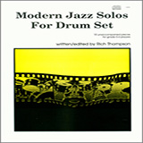 Download or print Rich Thompson Modern Jazz Solos For Drum Set Sheet Music Printable PDF 28-page score for Jazz / arranged Percussion Solo SKU: 125010.