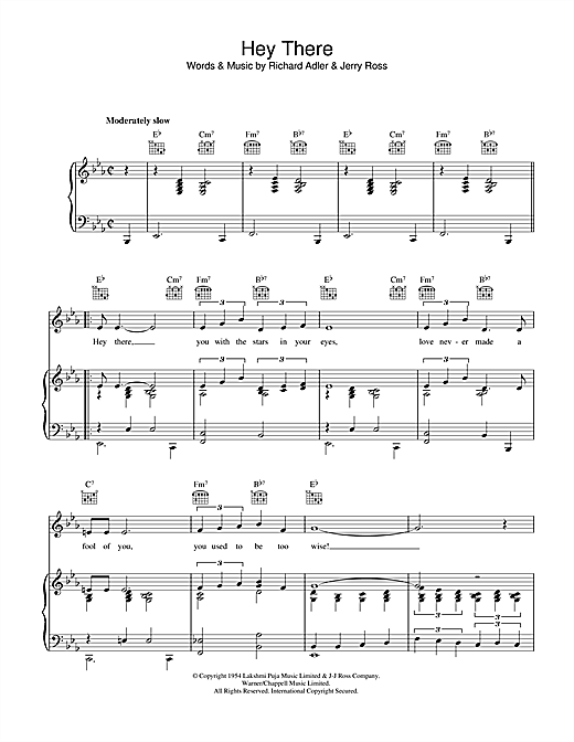 Richard Adler Hey There sheet music notes and chords. Download Printable PDF.
