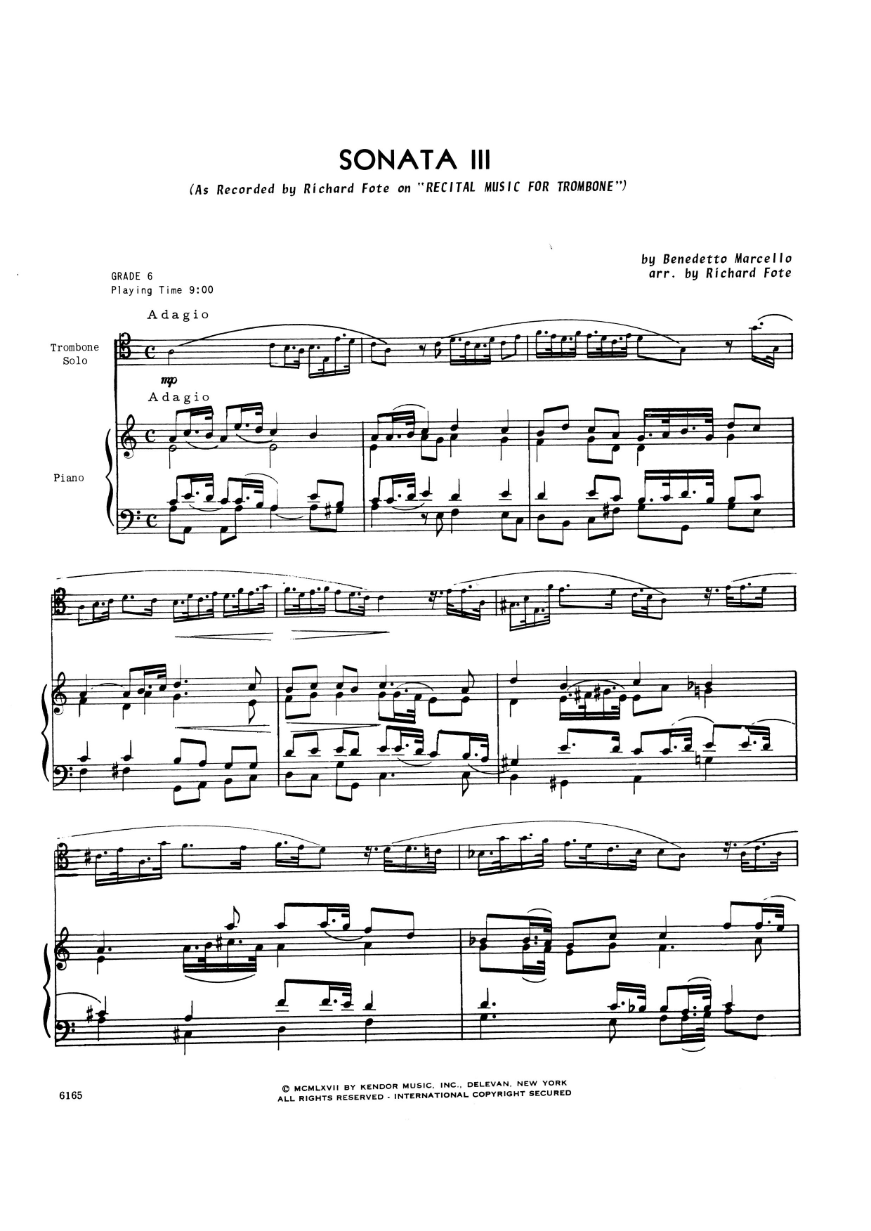 Richard Fote Sonata Iii - Piano Accompaniment sheet music notes and chords. Download Printable PDF.
