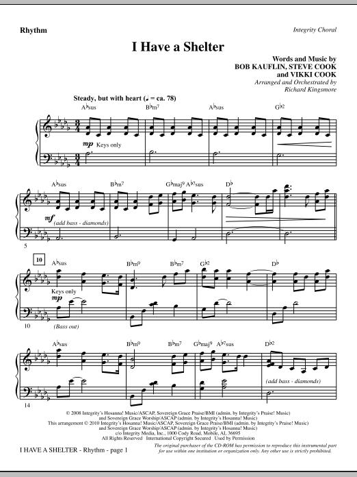 Richard Kingsmore I Have A Shelter - Rhythm sheet music notes and chords. Download Printable PDF.