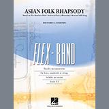 Download Richard L. Saucedo 'Asian Folk Rhapsody - Pt.2 - Bb Clarinet/Bb Trumpet' Printable PDF 2-page score for Folk / arranged Concert Band SKU: 370814.