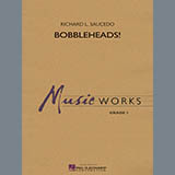 Download or print Richard L. Saucedo Bobbleheads! - Bb Bass Clarinet Sheet Music Printable PDF 1-page score for Novelty / arranged Concert Band SKU: 331011.