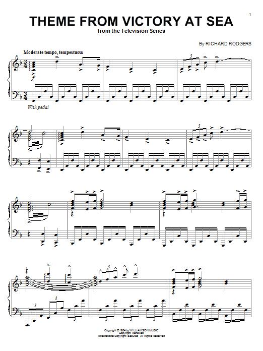 Richard Rodgers Victory At Sea sheet music notes and chords