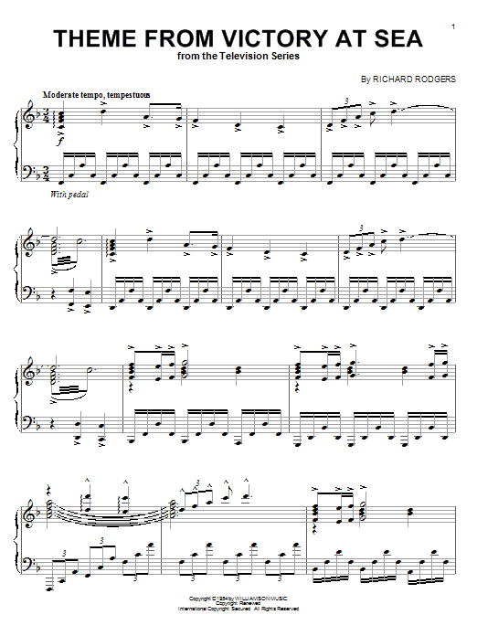 Richard Rodgers Victory At Sea sheet music notes and chords. Download Printable PDF.