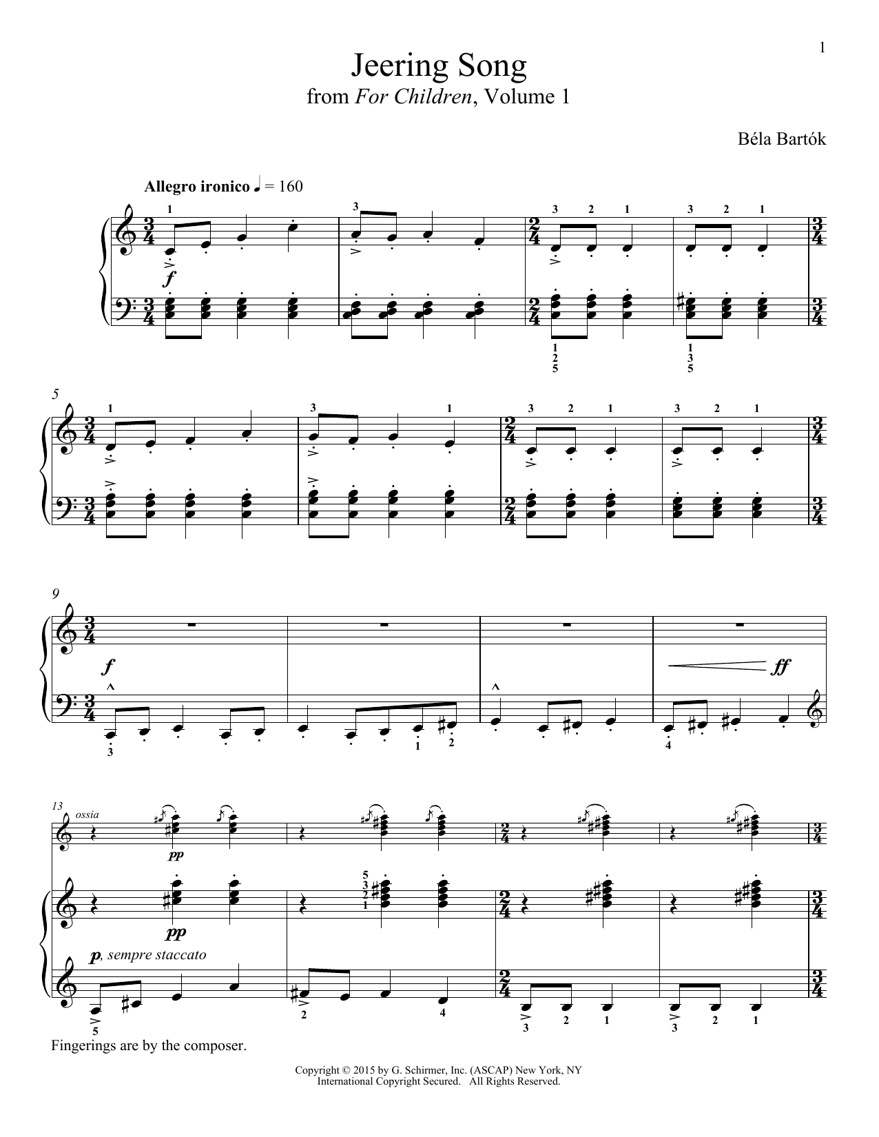 Richard Walters Jeering Song sheet music notes and chords
