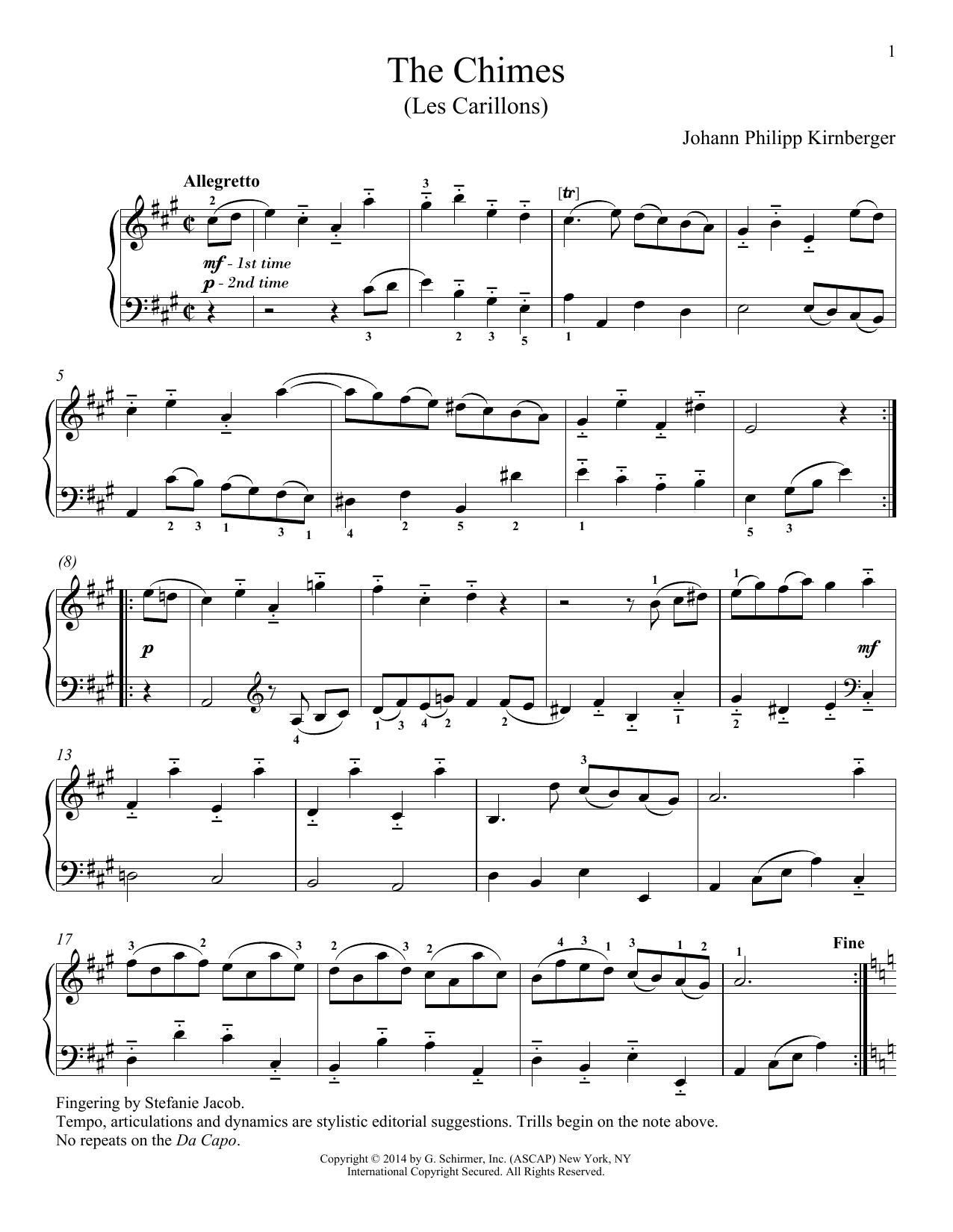 Richard Walters Les Carillons sheet music notes and chords. Download Printable PDF.
