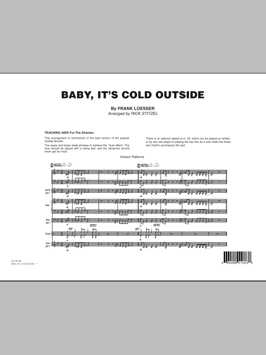 Rick Stitzel Baby, It's Cold Outside - Full Score sheet music notes and chords. Download Printable PDF.