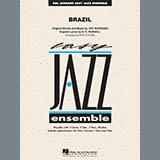 Download Rick Stitzel 'Brazil - Piano' Printable PDF 4-page score for Pop / arranged Jazz Ensemble SKU: 325423.