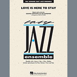 Download Rick Stitzel 'Love Is Here To Stay - Conductor Score (Full Score)' Printable PDF 8-page score for Love / arranged Jazz Ensemble SKU: 336465.