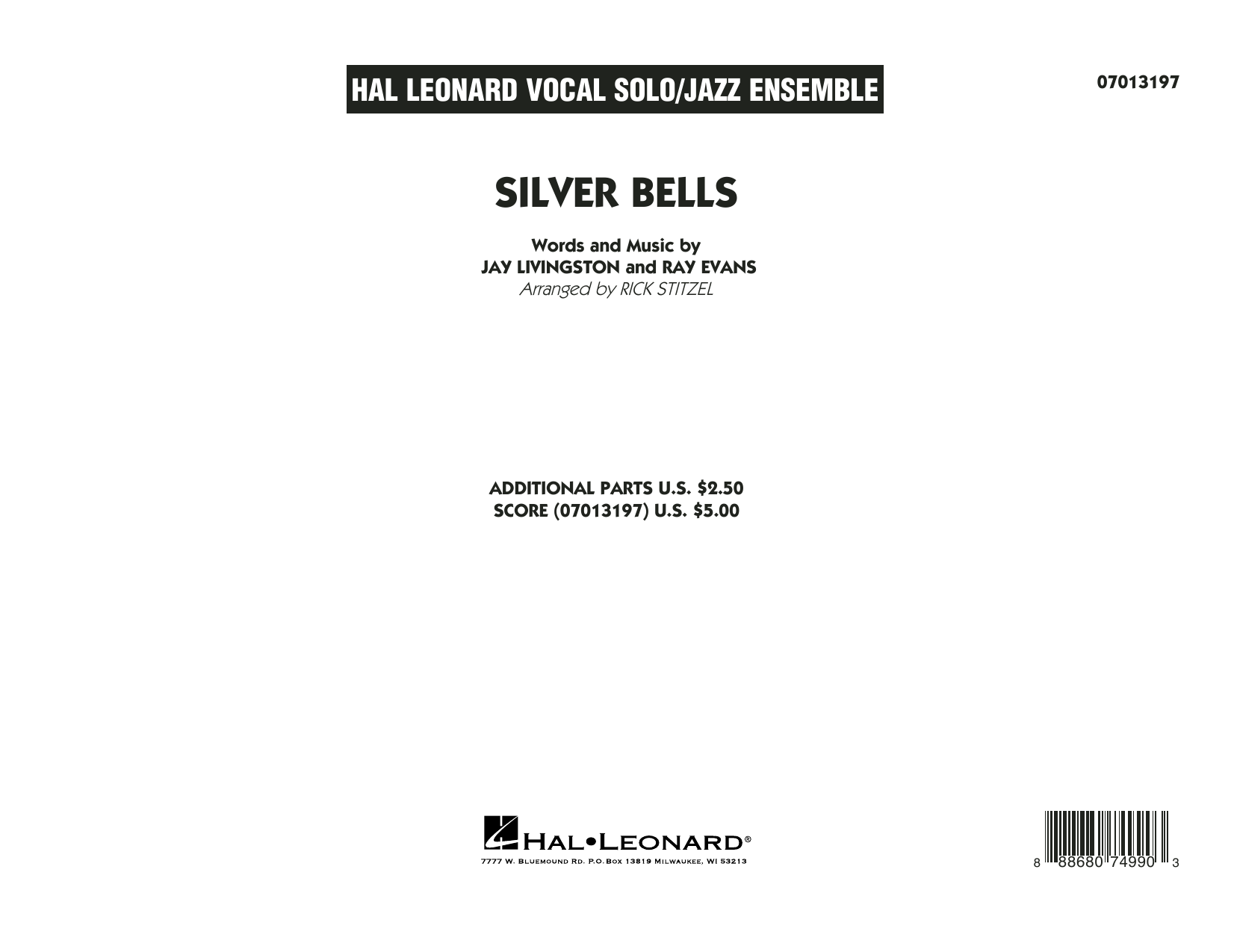 Rick Stitzel Silver Bells - Conductor Score (Full Score) sheet music notes and chords. Download Printable PDF.