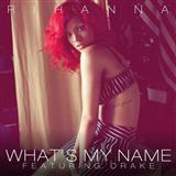 Download Rihanna 'What's My Name? (feat. Drake)' Printable PDF 8-page score for R & B / arranged Piano, Vocal & Guitar (Right-Hand Melody) SKU: 106210.