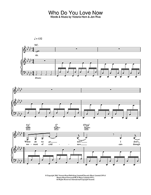 Riva Who Do You Love Now sheet music notes and chords