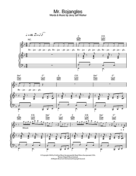 Robbie Williams Mr. Bojangles sheet music notes and chords. Download Printable PDF.