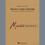 Download or print Robert Buckley Front and Center - Baritone T.C. Sheet Music Printable PDF 2-page score for Concert / arranged Concert Band SKU: 337713.