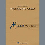 Download Robert Buckley 'The Knights' Creed - F Horn 2' Printable PDF 2-page score for Concert / arranged Concert Band SKU: 378067.