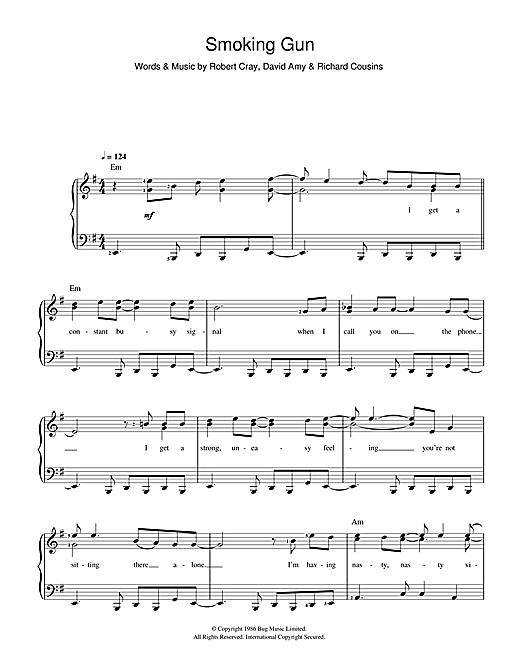 Robert Cray Smoking Gun sheet music notes and chords. Download Printable PDF.