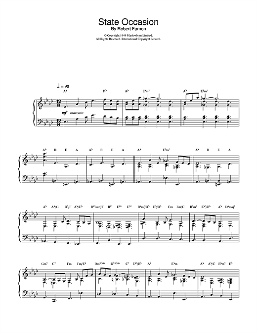 Robert Farnon State Occasion sheet music notes and chords