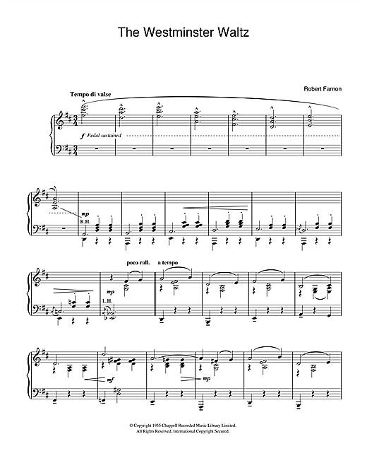 Robert Farnon The Westminster Waltz sheet music notes and chords. Download Printable PDF.