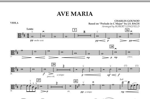 Robert Longfield Ave Maria - Viola sheet music notes and chords. Download Printable PDF.