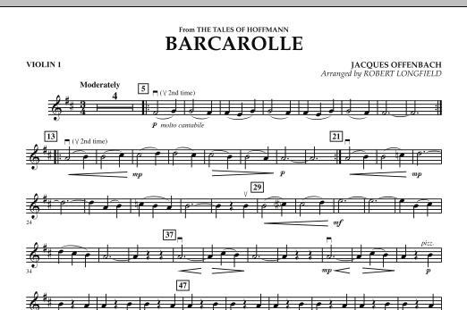 Robert Longfield Barcarolle - Violin 1 sheet music notes and chords. Download Printable PDF.