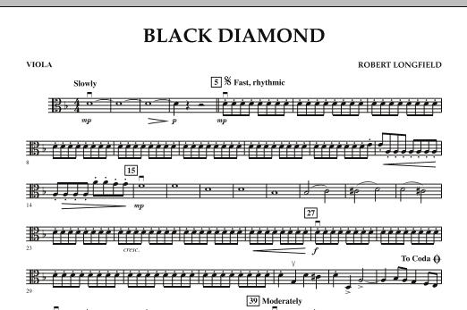 Robert Longfield Black Diamond - Viola sheet music notes and chords. Download Printable PDF.
