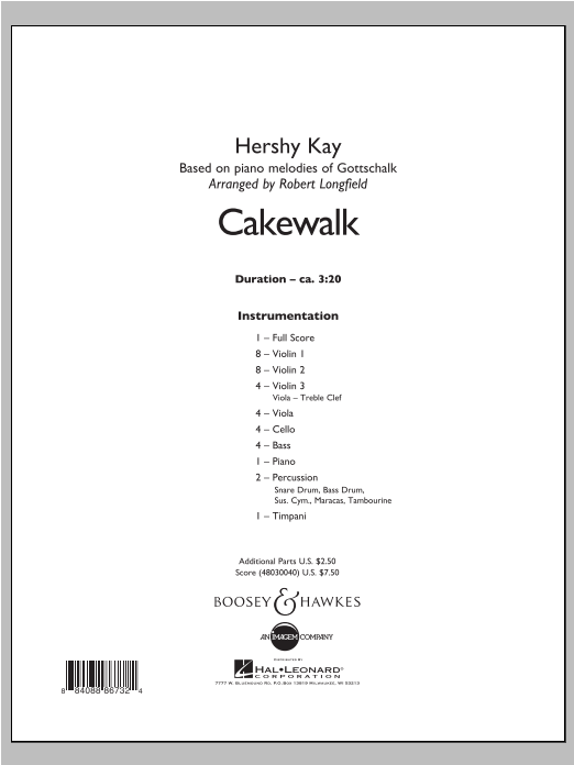 Robert Longfield Cakewalk - Conductor Score (Full Score) sheet music notes and chords. Download Printable PDF.