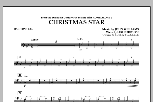 Robert Longfield Christmas Star (from Home Alone 2: Lost in New York) - Baritone B.C. sheet music notes and chords. Download Printable PDF.