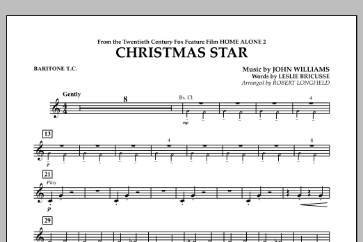 Robert Longfield Christmas Star (from Home Alone 2: Lost in New York) - Baritone T.C. sheet music notes and chords. Download Printable PDF.