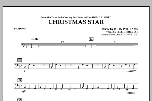 Robert Longfield Christmas Star (from Home Alone 2: Lost in New York) - Bassoon sheet music notes and chords. Download Printable PDF.