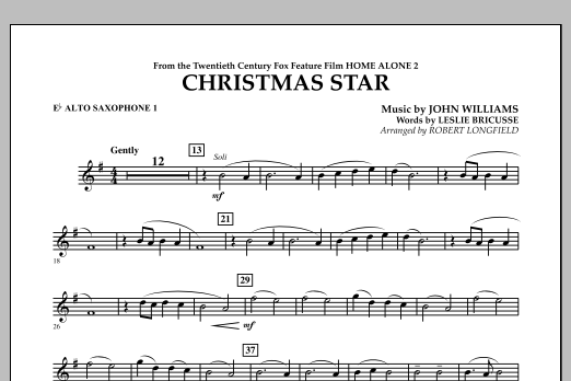 Robert Longfield Christmas Star (from Home Alone 2: Lost in New York) - Eb Alto Saxophone 1 sheet music notes and chords. Download Printable PDF.